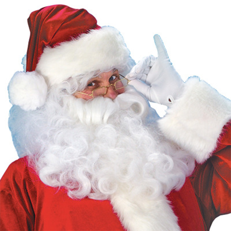 Christmas Cosplay Party Suit Adult Hooded Red Velvet Santa Claus Costume Set Christmas Xmas Suit