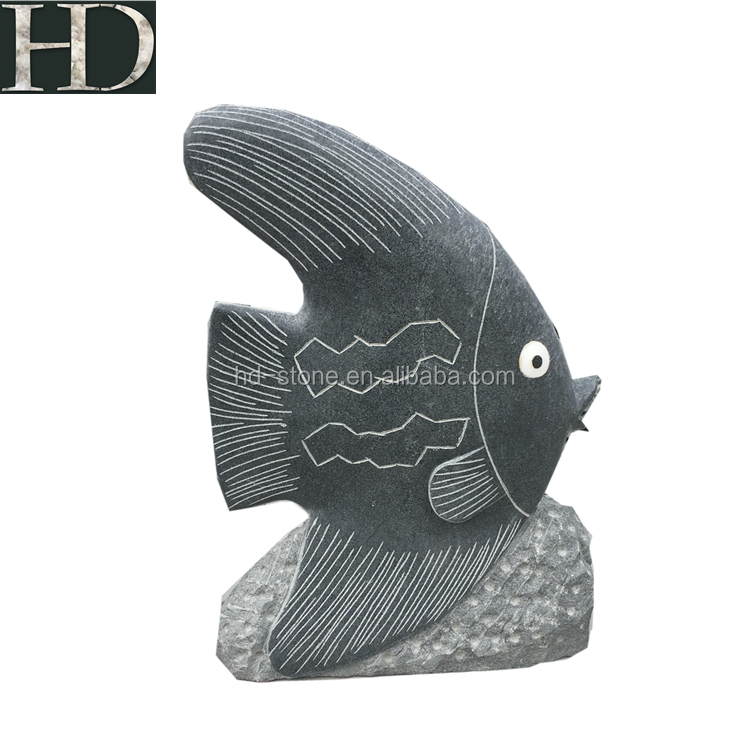 Carving Natural Stone Garden Animal Sculpture Fish Sculpture for Sale