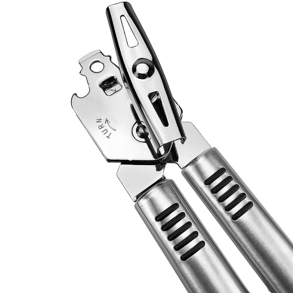 Stainless Steel Manual Can Opener, 18/10 Food-Safe, Dishwasher Safe