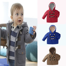 Baby Boys Jacket Clothes 2016 Winter 4 Color Outerwear Coat Thick Kids Clothes Children Clothing for 2-7yrs girls boys clothing