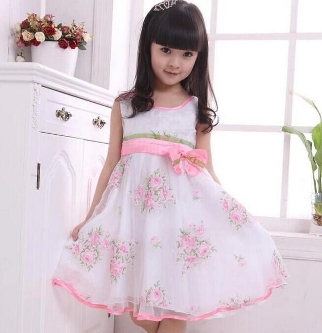 5214d2428 2019 Wholesale New 2015 Girl Chiffon Dress Baby Girl Summer Rose ...