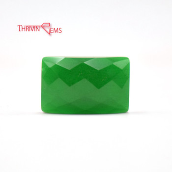 Chinese Jewelry Wholesale Rectangular Cut Emerald Nano Synthetic Gem