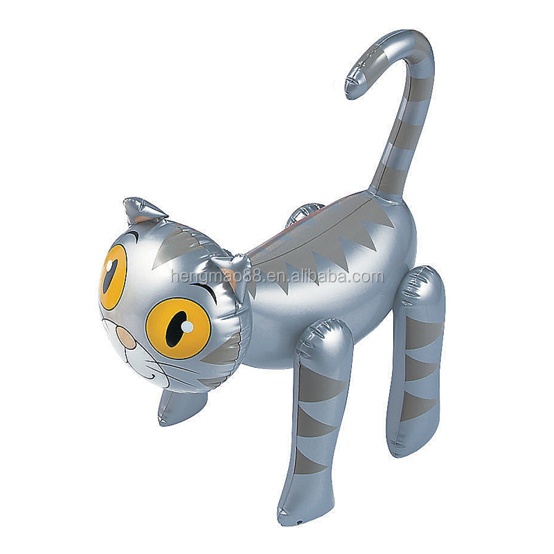 adorable small inflatable cat toy