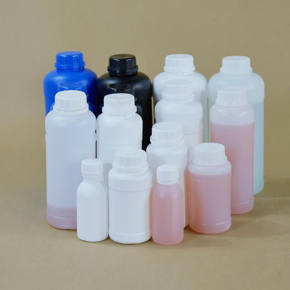100 мл 150 мл до 1000 мл синие черные круглые пластиковые бутылки в Карачи с золотой крышкой на заказ, сельскохозяйственная бутылка для пестицидов hdpe