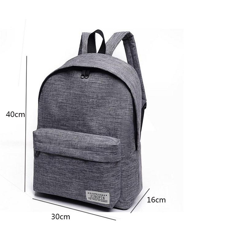 Fashion Simple Canvas Backpack Male High Quality School Laptop Backpack  Female Travel Bagpack Casual Stachels Rucksack Mochila 51f0942394bd6