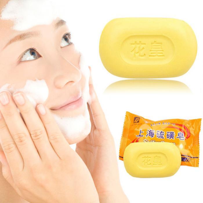 Soap Bath & Shower 85g Sulphur Soap Skin Care Dermatitis Fungus Eczema Anti Bacteria Fungus Shower Bath Whitening Soaps Wh998