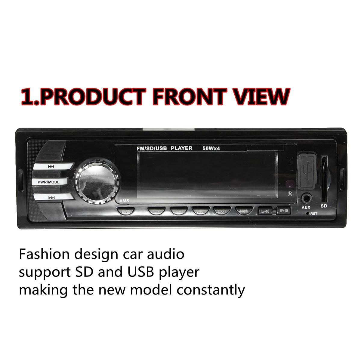 Стерео радио в-dash fm-aux вход приемника mp3-радио с SD USB новый
