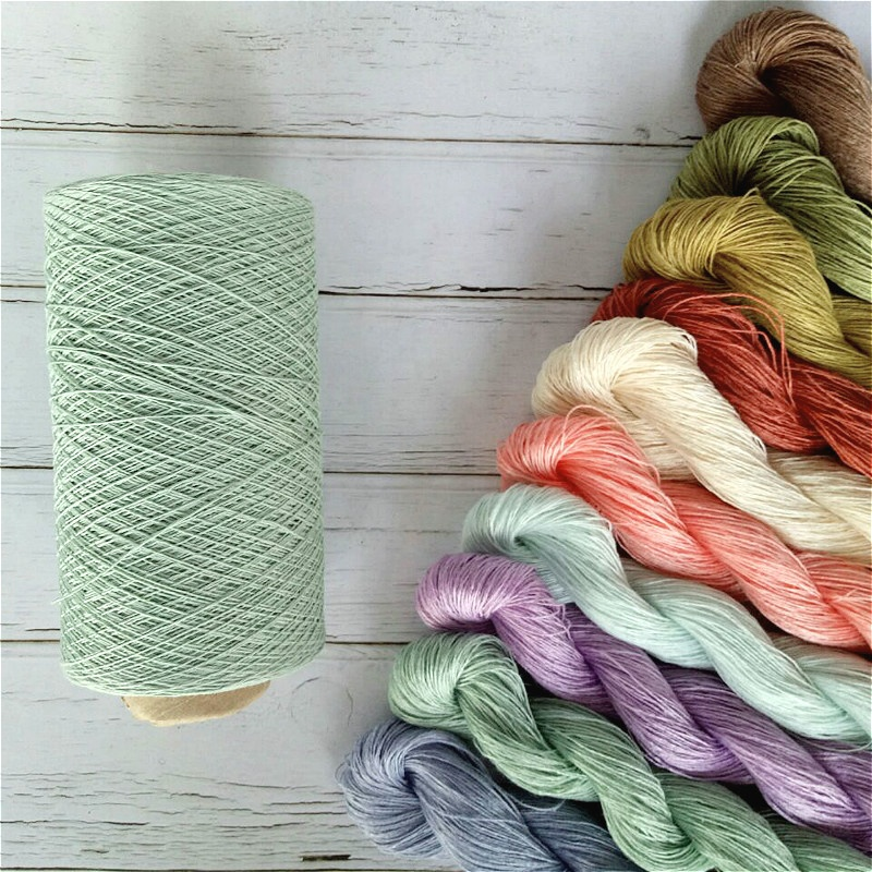 pure linen yarn natural fiber hand knitting crocheting yarn for baby