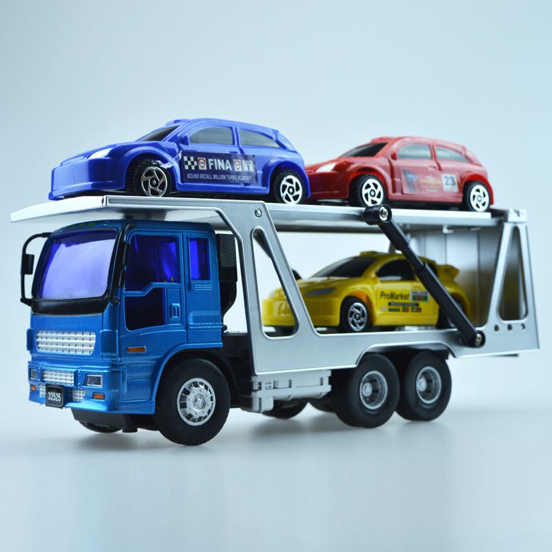 1 65 Alloy Toy Cars Model American Style Transporter Truck: Popular Transport Car-Buy Cheap Transport Car Lots From