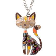 Женское Ожерелье с котом Bonsny, массивное ожерелье с эмалью, подвеска-чокер на цепочке, 2018(Китай)