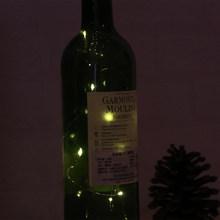 10 светодиодных солнечных гирлянд на солнечных батареях винная бутылка в форме пробки светодиодная медная проволока гирлянда Рождественск...(Китай)