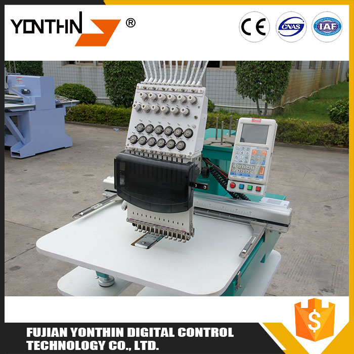 Yonthin 12 Needles Industrial Embroidery Machines Prices For Sale , Embroidery Machine Single Head