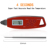 2017 Brand-new Digital LCD Instant Read Super Fast Accurate Waterproof Cooking Meat Thermometer for BBQ Grill Smoker