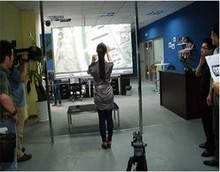 46 inch dual interactive lcd touch foil Film , Touch Screen Film Through glass, Dual touch foil and multi-touch foil