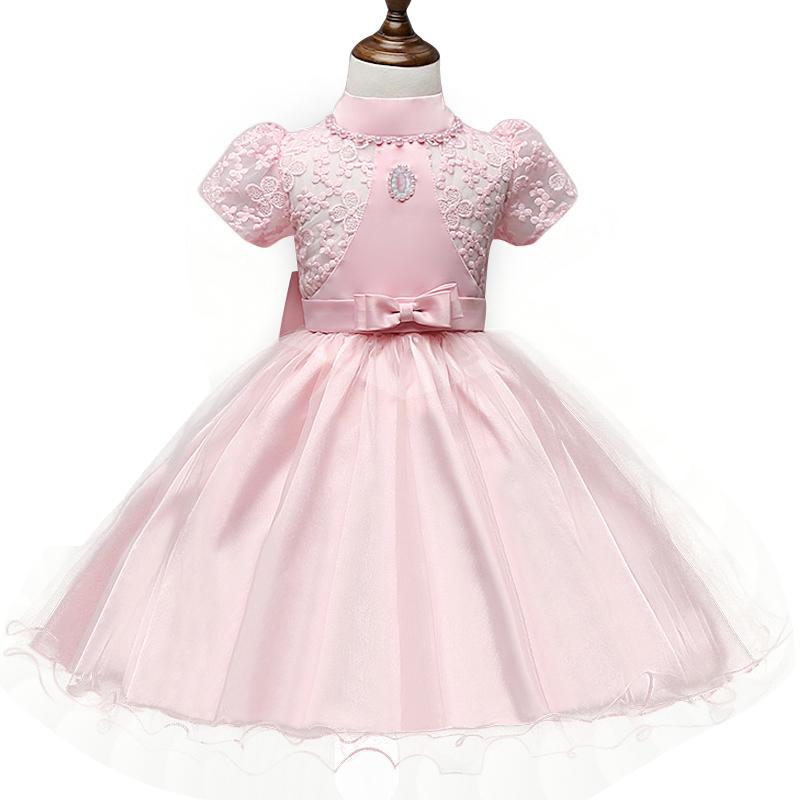vintage lace baby girl dress formal pageant wedding tulle tutu girls dresses beads little. Black Bedroom Furniture Sets. Home Design Ideas