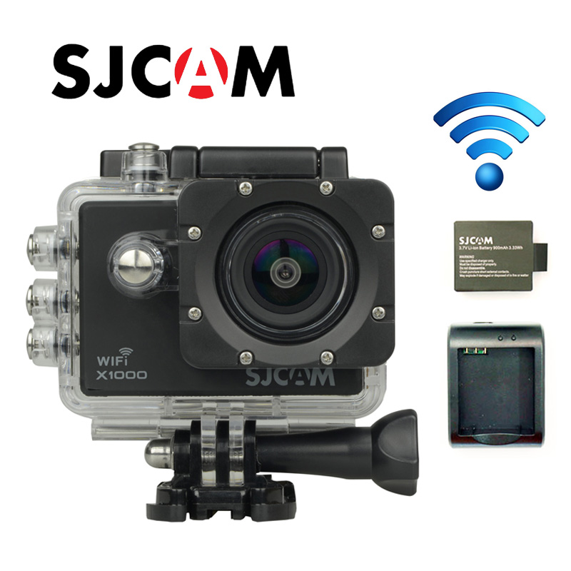 Free shipping!!Original SJ4000 Wifi SJCAM +Car Charger+Holder+Battery Charger +Extra battery +32GB TF Card for Sport Camera