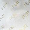 Feuille d'or logo blanc papier