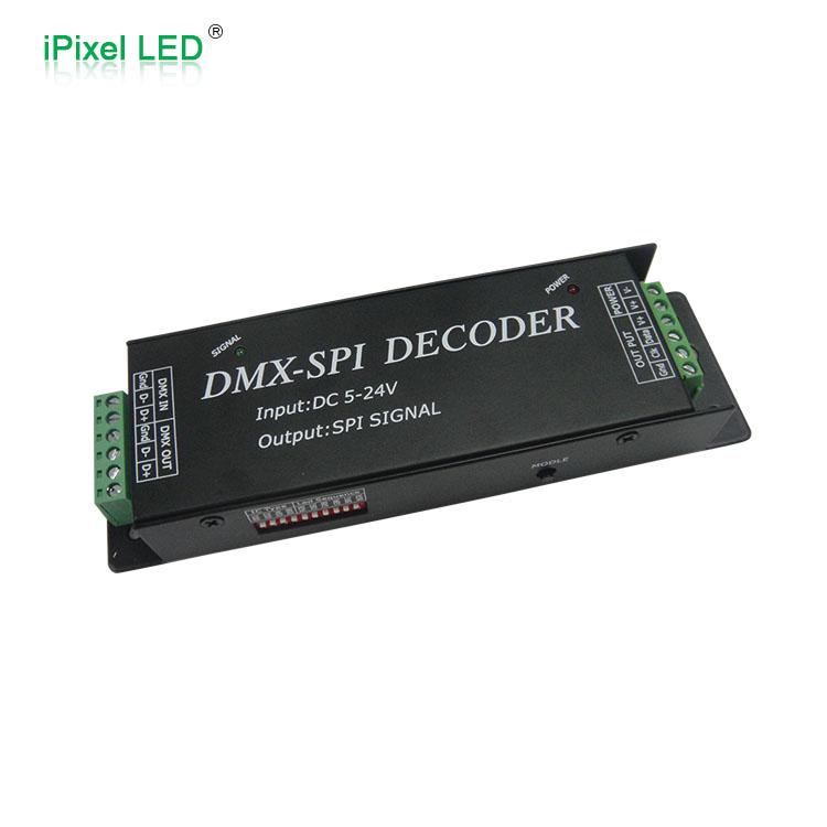 easy DIY DC5~24v dmx to spi decoder for rgb led strip controller