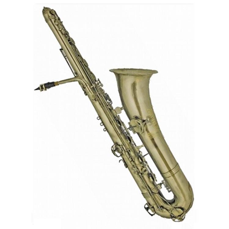 Античный басовый саксофон с золотым покрытием, профессиональный саксофон Bb sax