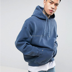Cotton Hoodie Custom Fleece 50% Cotton 50% Polyester Drop Shoulders Men's Oversize Pullover Hoodie