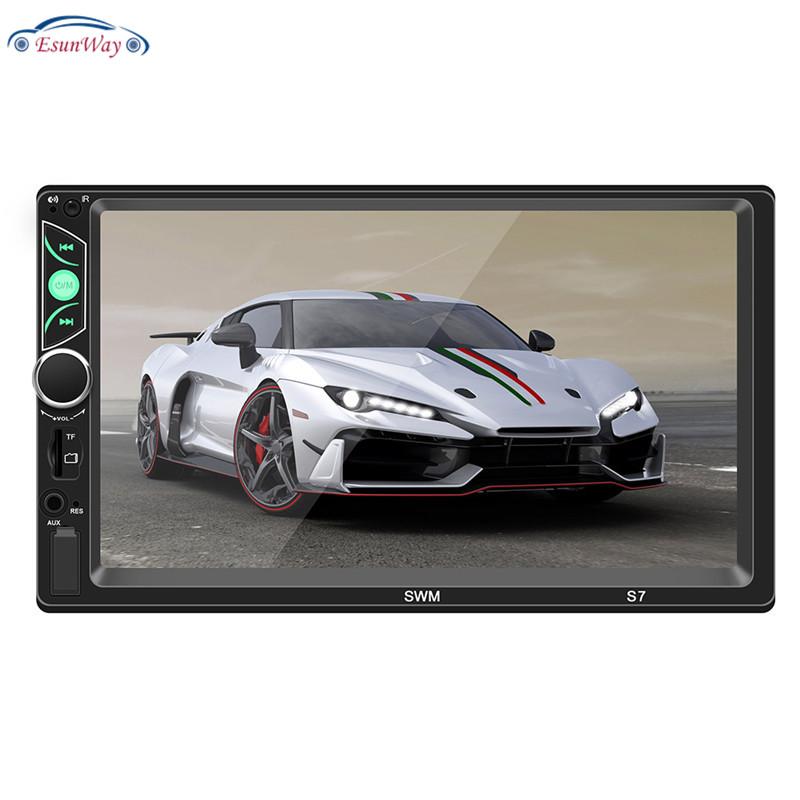 Автомагнитола 2din 7 дюймов, мультимедийный MP5-плеер с Bluetooth, сенсорным экраном, USB, FM, с поддержкой IOS/Android Mirror Link S7