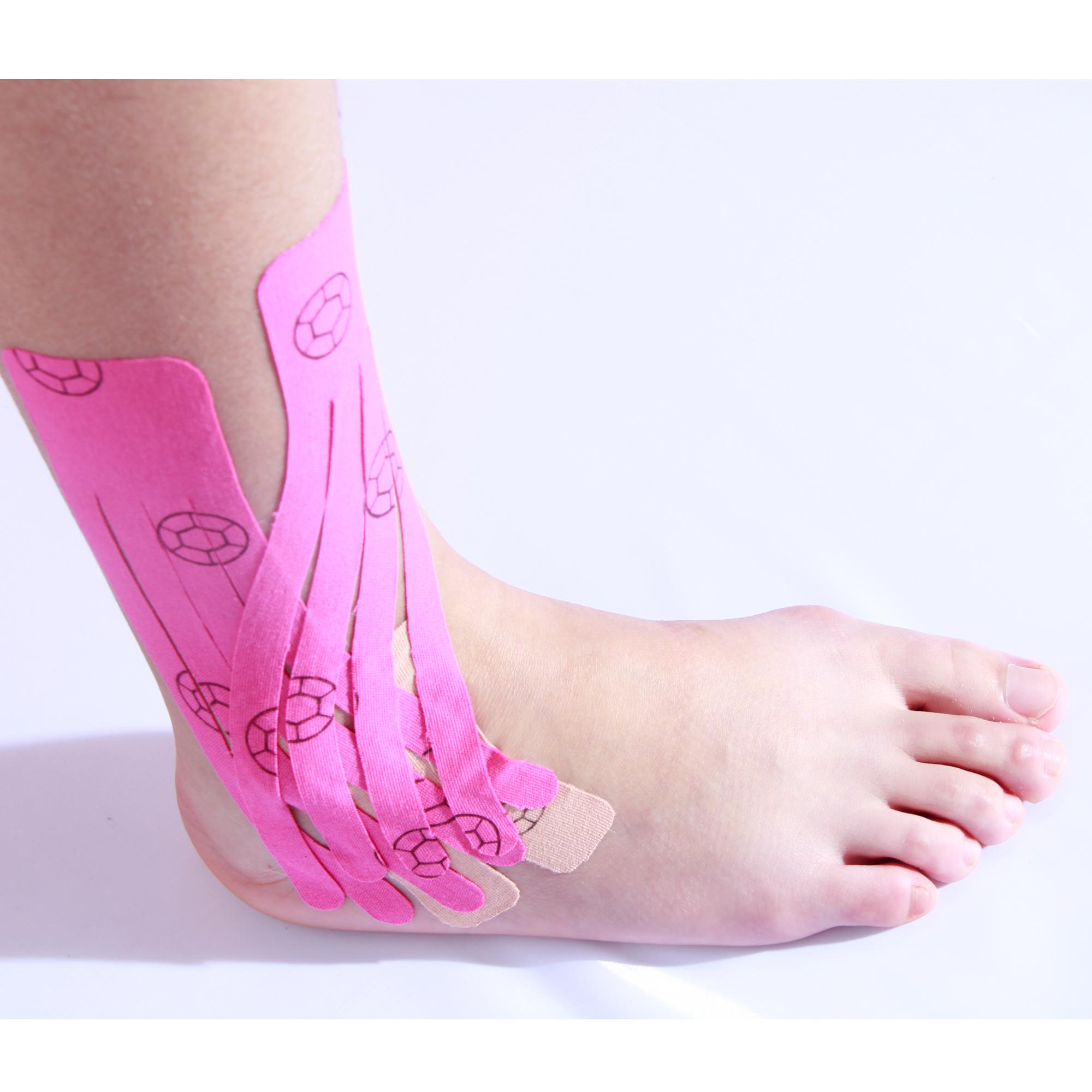 Товары для здоровья, высокоэластичная и водонепроницаемая кинезиологическая лента для поддержки голеностопа
