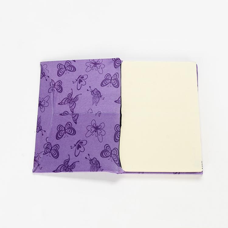 Оптовая продажа, индивидуальный эластичный Чехол-книжка размера A4 из спандекса фиолетового цвета