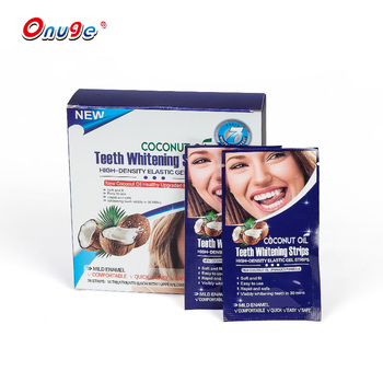 innovative 2019 brush teeth perfect smile coconut teeth whitening gel strips