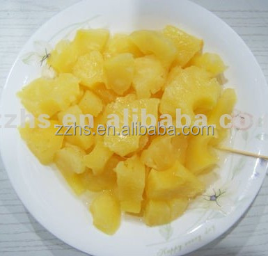 Canned Pineapple Pieces in Light Syrup Fresh Juicy