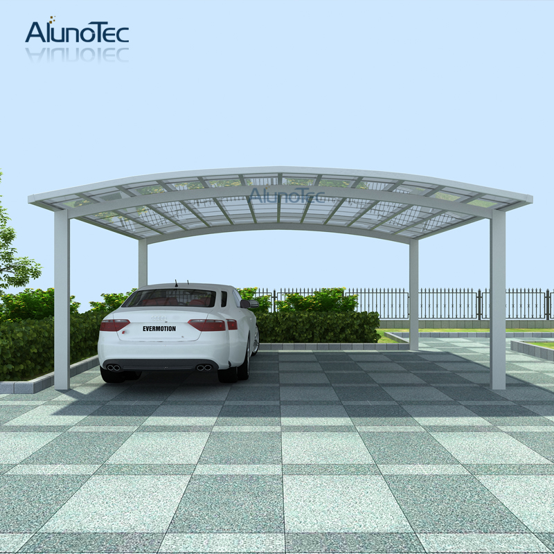 Polycarbonate Car Parking Shelter Metal Carport Canopy Double Cantilever Cars Garage View Metal Carport Alunotec Product Details From Dongguan Aluno Industry Co Ltd On Alibaba Com
