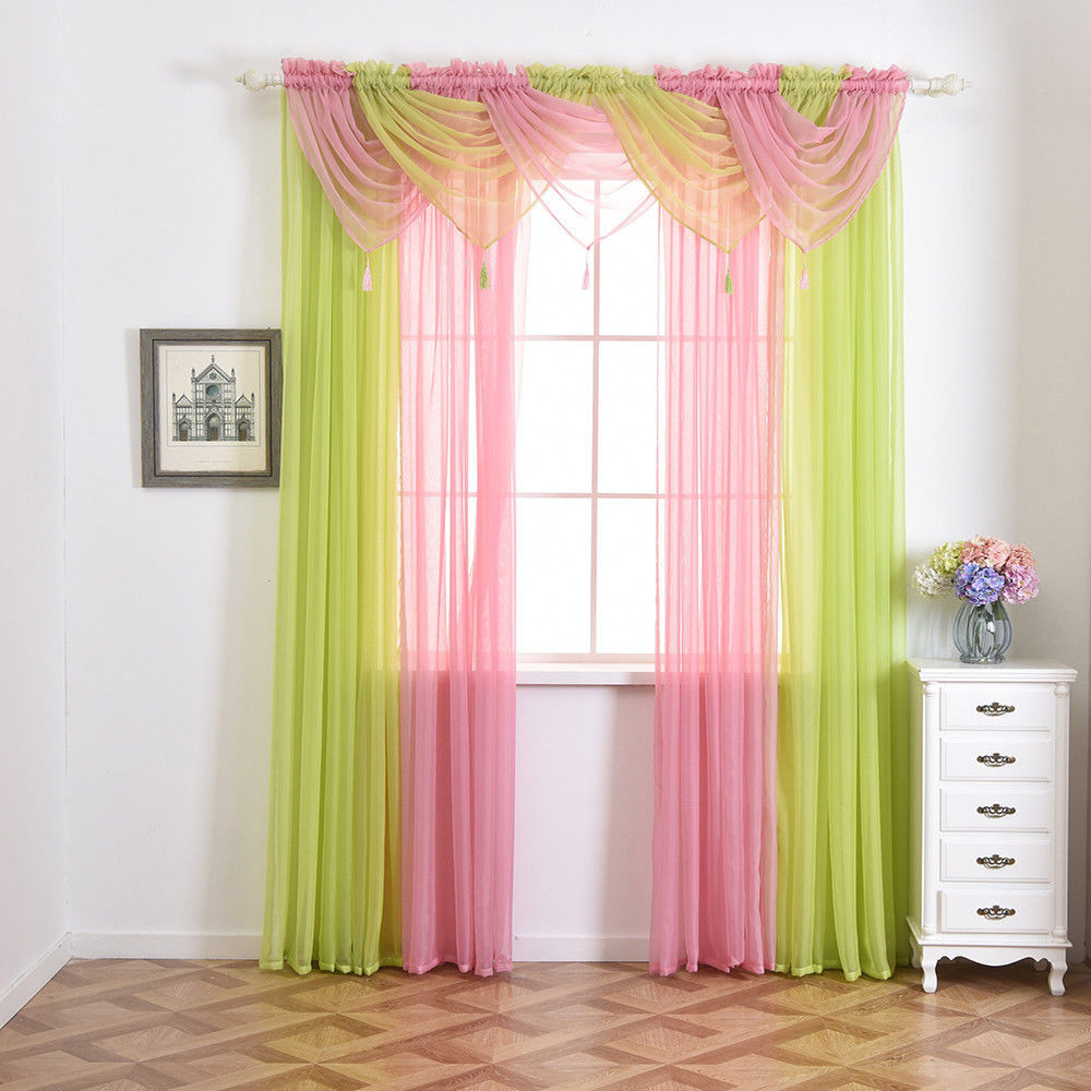 Voile Curtain Swags All Colours Pelmet Valance Net Curtains Voile