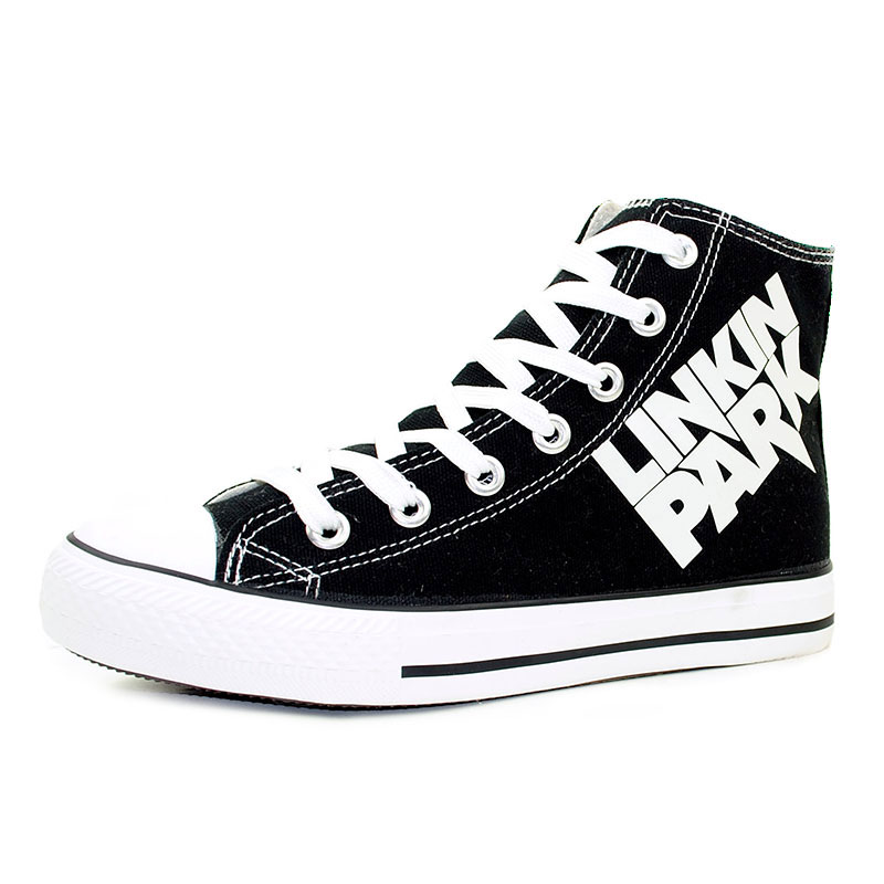 Fashion Luminous Women's Shoes Linkin Park Hand Painted