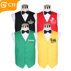 Waistcoats Mens Coloured Waistcoats OEM ODM Mens Coloured Logo Waistcoats Volunteer Vest Cotton Custom Football Logo Design Vest Club Waiter Hotel Waistcoats