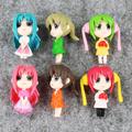 6pcs set Cute Anime Sailor Moon PVC Figure Collection Model Toys Dolls 4 5cm