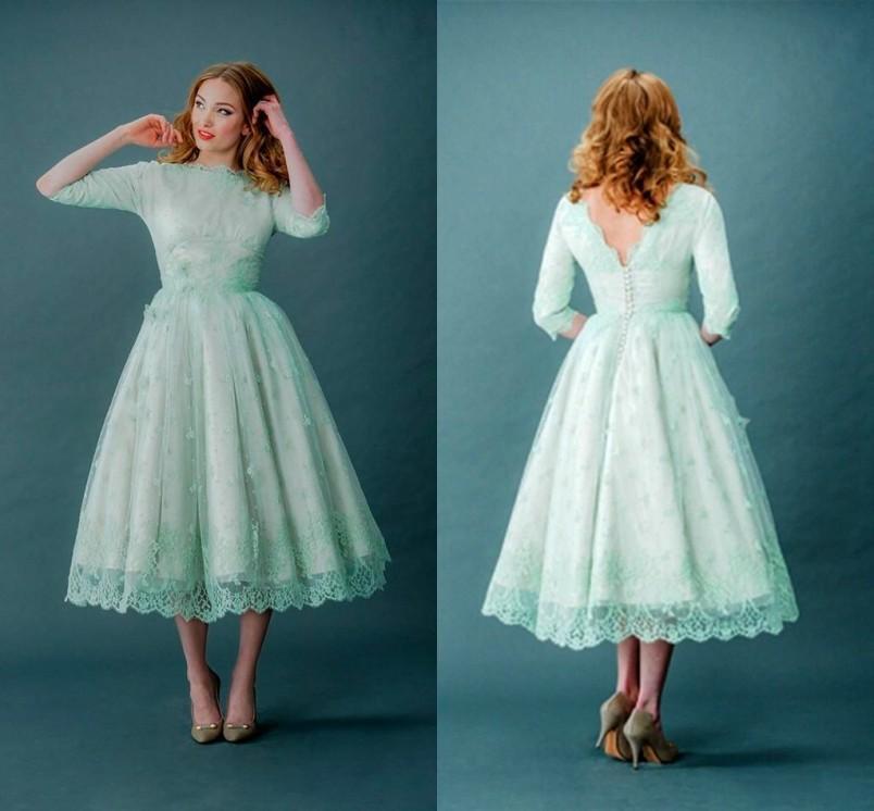 Vintage Three Quarter Length Wedding Dresses: Popular Plus Size Bridesmaid Dresses Weddings-Buy Cheap