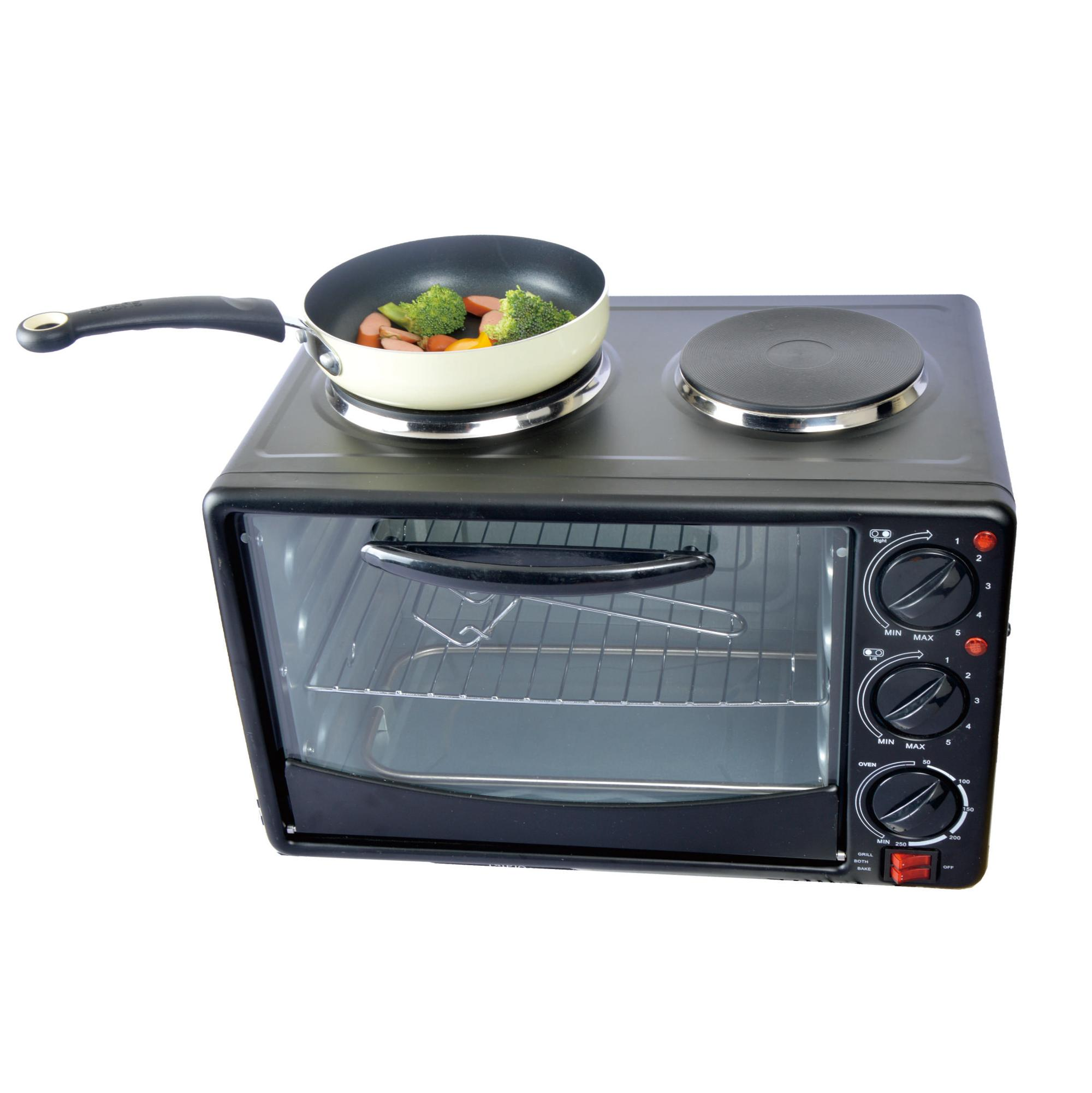 Electric Oven With Double Hot Plates Electric Toaster Oven Hot plate Electric Oven Hotplate