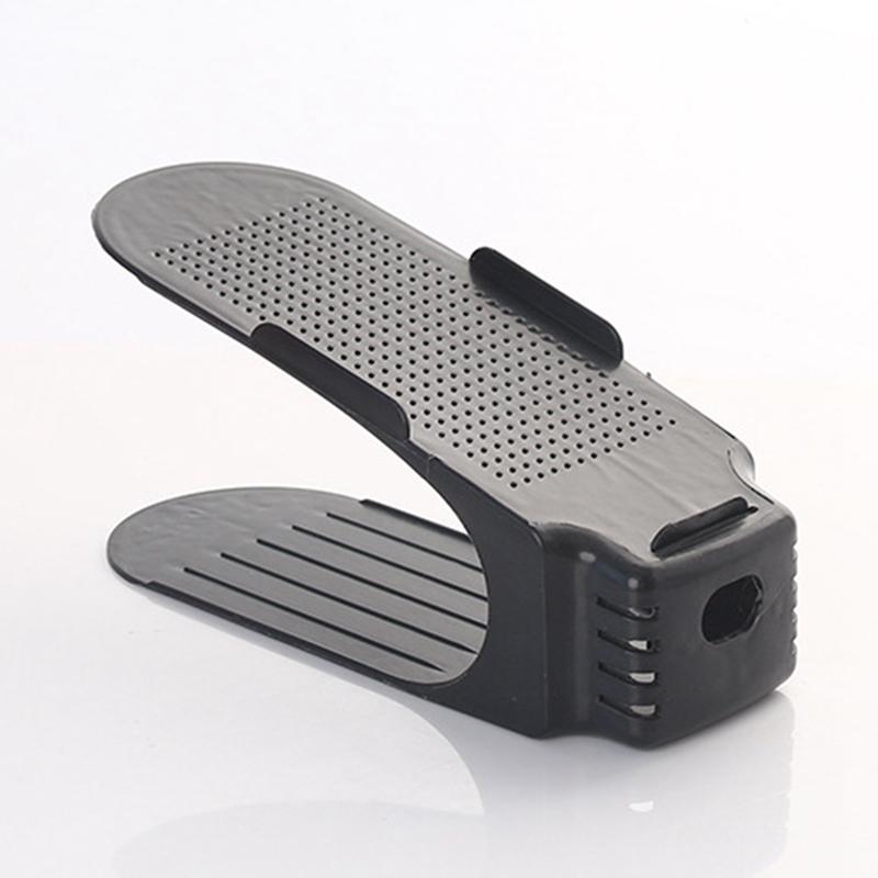Хит продаж, современная пластиковая стойка для обуви, регулируемая Двухуровневая стойка для обуви по высоте, Органайзер