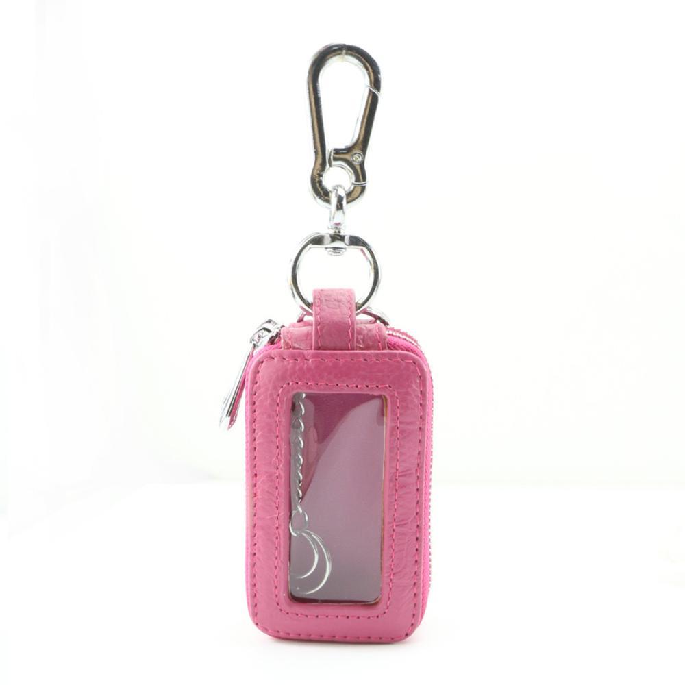 Custom small zipper car key pouch leather crocodile Pattern multifunction key wallets genuine leather smart key holder