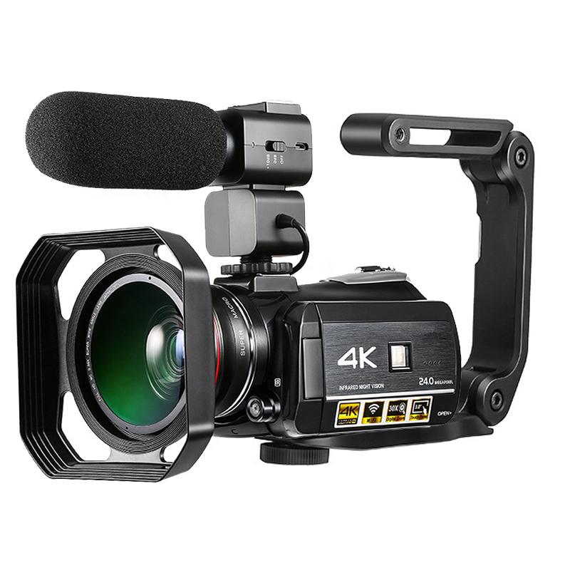 Winait 24 Mega Pixels câmera de vídeo Digital super 4k wifi gravador de vídeo digital camcorder com 3.0 ''tela de toque