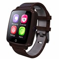 Bluetooth With Camera SmartWatch Leather Strap Smart Watch Support Micro SIM Card Bluetooth Connectivity for Apple
