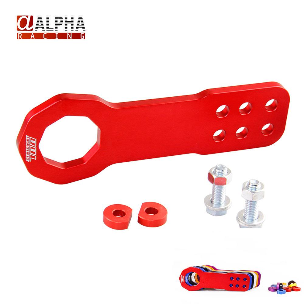 Альфа гонки - высокое качество универсальный JDM алюминий автомобиль отдел буксирные крюки буксирный крюк комплект