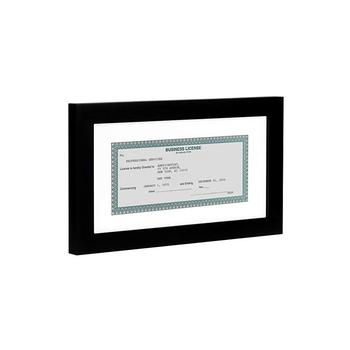 Business License Frame Standard Business Licenses, Real Estate License and Bank Checks