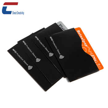 Low Price Aluminum Foil Passport Credit Card Anti thief RFID Blocking Holder with CMYK Printing