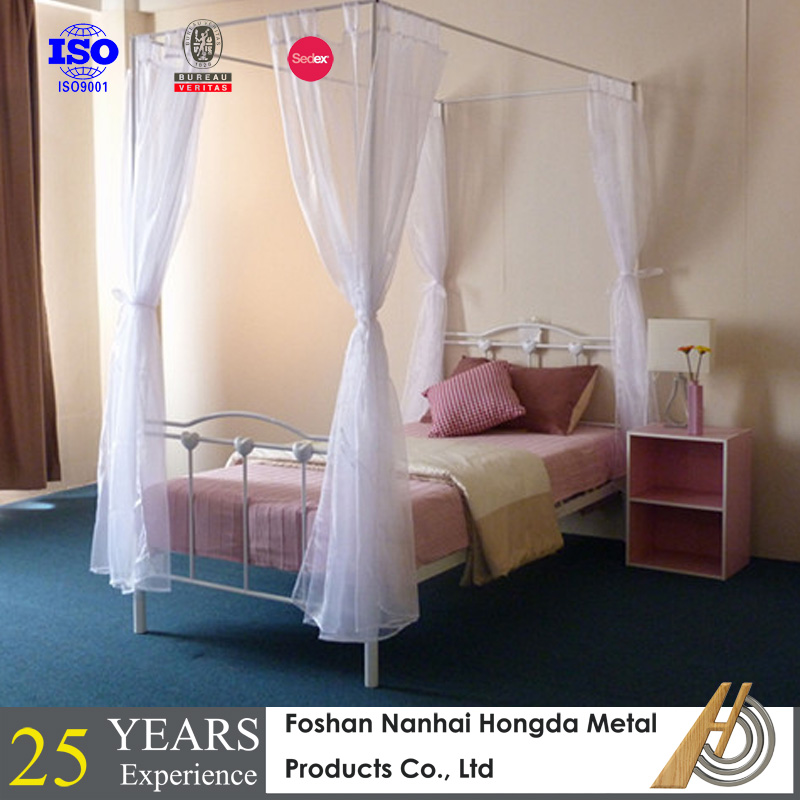 Kids Heart Shaped Metal Bed For Sale With Canopy Buy Canopy Bed Heart Shaped Beds For Sale Kids Metal Bed Product On Alibaba Com