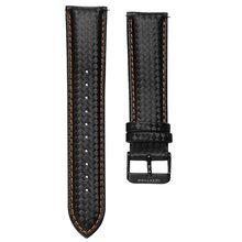 20 мм 22 мм быстросъемный роскошный черный кожаный ремешок из углеродного волокна для часов gear S3 S2 Классическая ширина сменный ремешок(Китай)