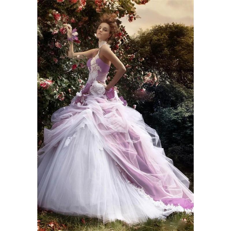 Romantic Long Wedding Dress 2016 Custom Made Open Back
