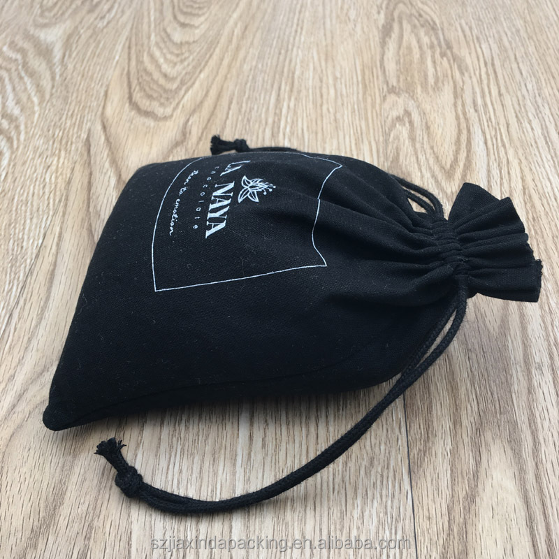 Black Cotton Packaging Bag For Chocolate