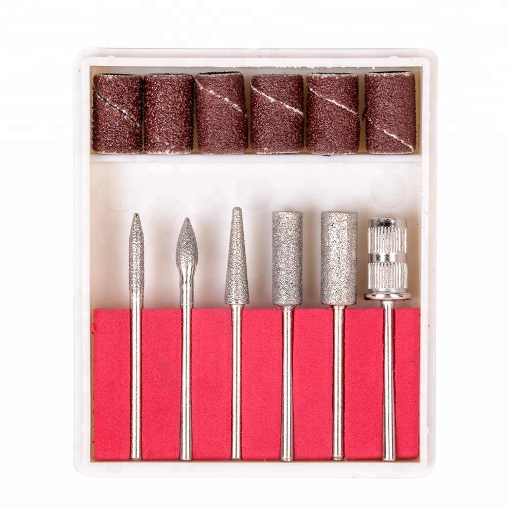 Лак для ногтей электродрель искусство Фрезер для ногтей маникюрный набор шлифовки и полировки инструмент + Биты