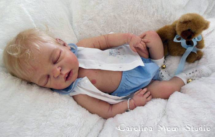 Diy Full Silicone Reborn Sleep Baby Doll Mold Lifelike