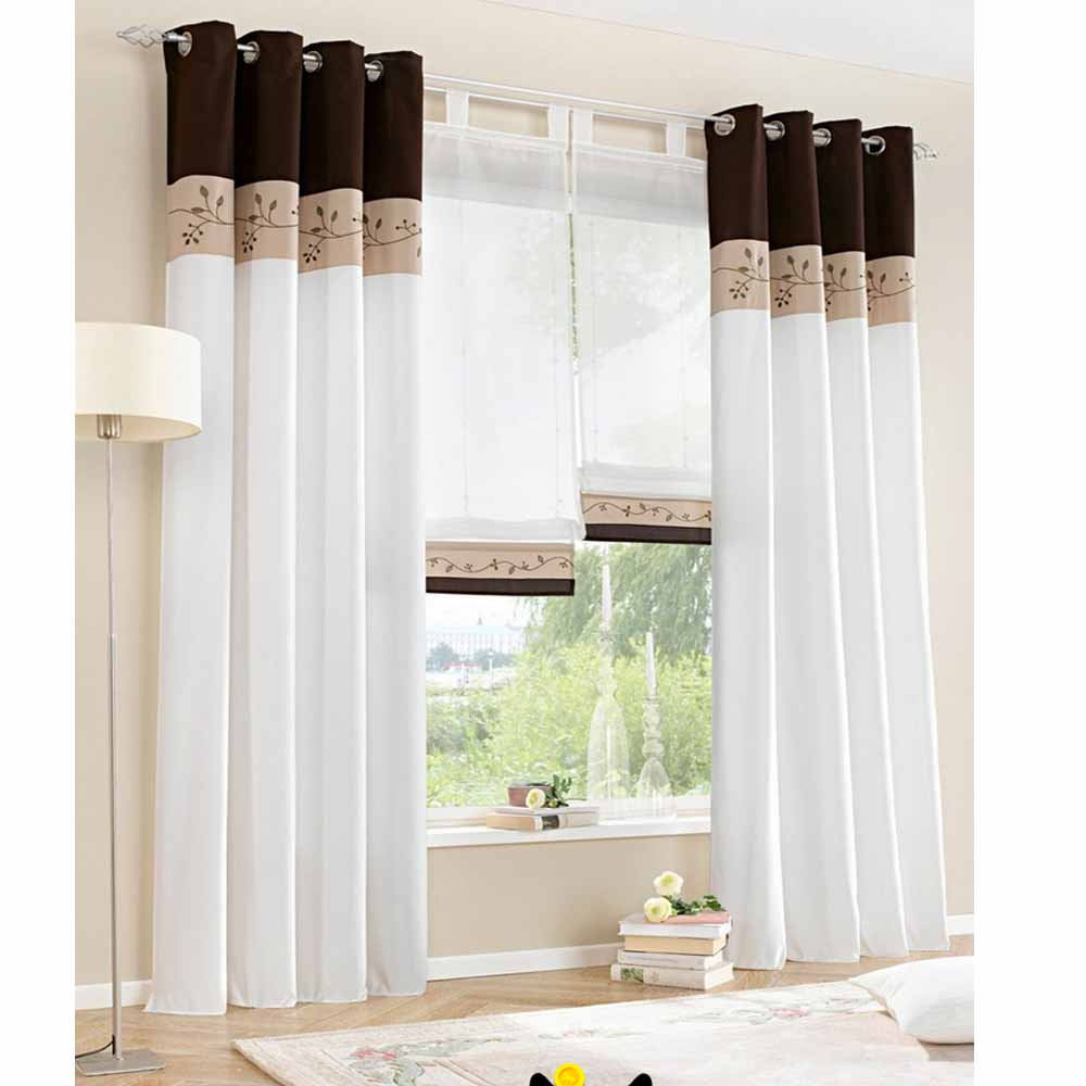 1 piece only 2015 new white living room curtains bedroom window curtain screaaning modern. Black Bedroom Furniture Sets. Home Design Ideas